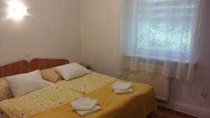 Łóżko lub łóżka w pokoju w obiekcie Pokoje Wczasowe Zwyciestwa