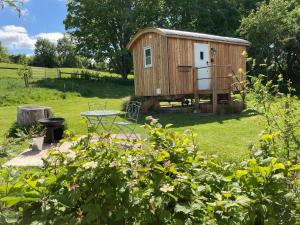 A garden outside Slades farm Glamping