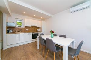 A kitchen or kitchenette at Apartman Macan