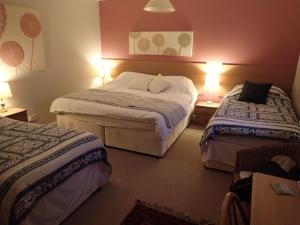 Boreland Farm tesisinde bir odada yatak veya yataklar