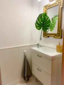 A bathroom at Apartament Grunwaldzka