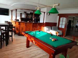 A pool table at Malachit Medical SPA Hotel