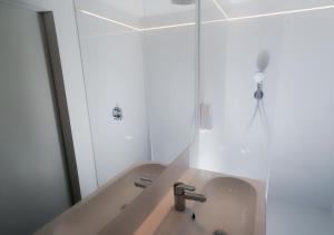 Salle de bains dans l'établissement Gîte de l'Étang