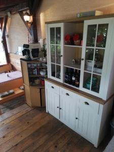 Kuchyň nebo kuchyňský kout v ubytování Apartments Kristic