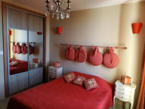 A bed or beds in a room at Appartement le Rêve-Catalan