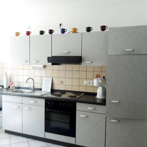 Küche/Küchenzeile in der Unterkunft Ferienwohnungen Lithos