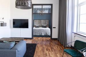 En tv och/eller ett underhållningssystem på Varbergs Kusthotell