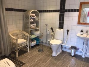 Ett badrum på Lyckegården