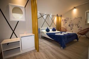Кровать или кровати в номере Hotel Villa Nadin