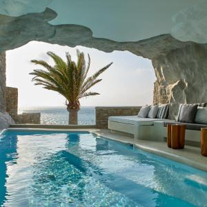The swimming pool at or near Cavo Tagoo Mykonos