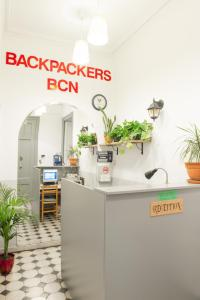 The lobby or reception area at Soul Backpackers Barcelona