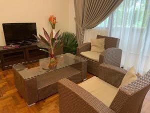 A seating area at Tanjong Puteri Golf Resort Berhad
