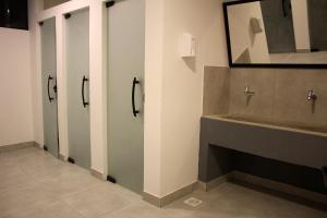 A bathroom at Massambaba Hostel