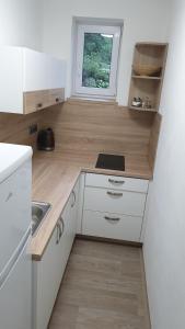 Küche/Küchenzeile in der Unterkunft Ubytování v soukromí - U Hlinků