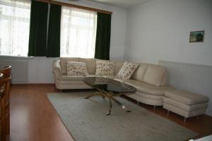 Ein Sitzbereich in der Unterkunft Apartments Wirrer