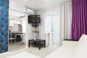 Телевизор и/или развлекательный центр в Apartment na Chkalova 53A
