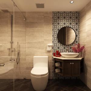 A bathroom at Eco Luxury Hanoi