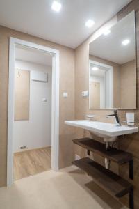 Kúpeľňa v ubytovaní Penzion Hradisko