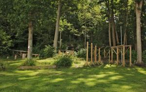 En trädgård utanför Hotell Munkeröd