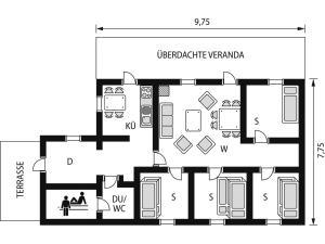 The floor plan of Chalet Kilberget - HJD027