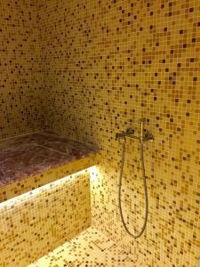 A bathroom at Hotel Leon Spa