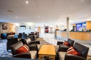 The lobby or reception area at Holiday Inn Express Stafford