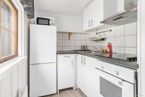 Ett kök eller pentry på First Camp Frösön-Östersund
