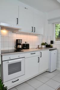 A kitchen or kitchenette at Apartmenthaus in der Metzstraße