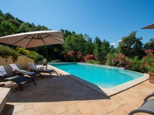 The swimming pool at or near French Villa in Le Muy countryside with private pool