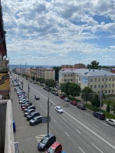 A general view of Izhevsk or a view of the city taken from the apartment