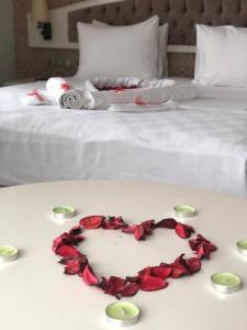 Кровать или кровати в номере Hanzade Park Hotel