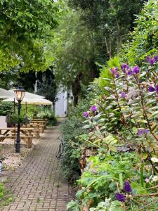 A garden outside The Woodfield Arms