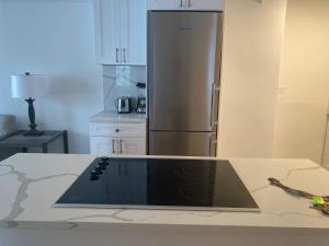 A kitchen or kitchenette at Central Park Apartments 30 Day Stays