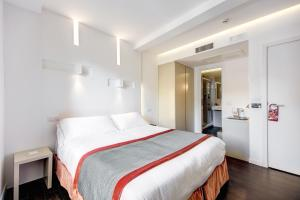 Cama o camas de una habitación en Albergo Abruzzi