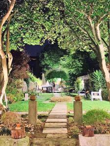 A garden outside Porta Azul
