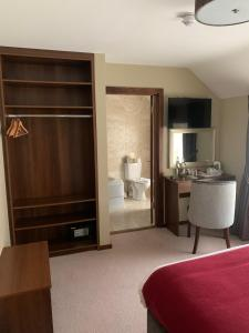A television and/or entertainment center at The Draper Rooms