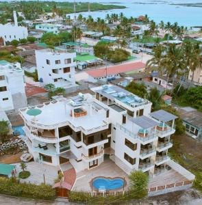 A bird's-eye view of Hotel La Laguna Galapagos