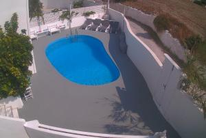 A view of the pool at Three Harites or nearby