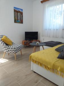 TV a/nebo společenská místnost v ubytování Apartment Sučić