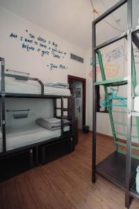 A bunk bed or bunk beds in a room at Ostello Bello Grande