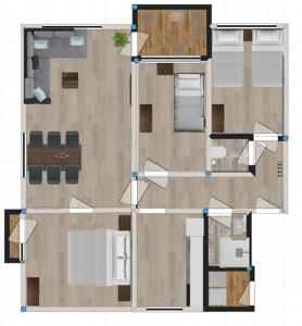 The floor plan of Appartement Zee en Duinzicht 78