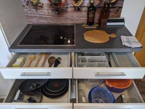 A kitchen or kitchenette at Montahaus