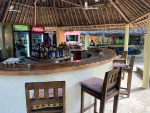 The lounge or bar area at Diani Backpackers