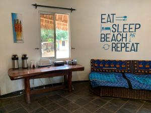 A seating area at Diani Backpackers