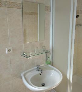 A bathroom at Pension Josef