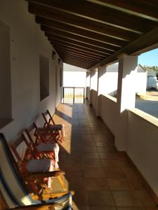Un balcón o terraza de Casa Rural La Galana Albacete