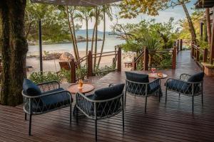 Uma área de estar em Ponta dos Ganchos Exclusive Resort