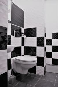 A bathroom at Central Hostel Jelgava