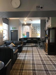 The lobby or reception area at The Station Hotel