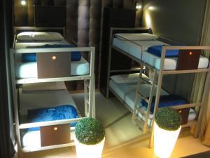 A bunk bed or bunk beds in a room at albergue SANTO SANTIAGO